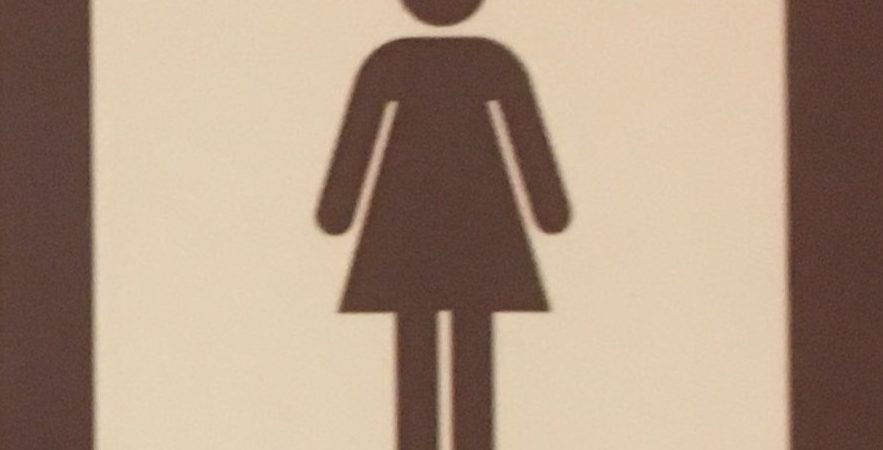 Iconic image of person in a dress used on public toilet doors